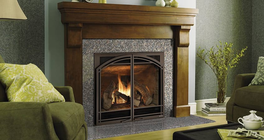 natural look gas fireplace
