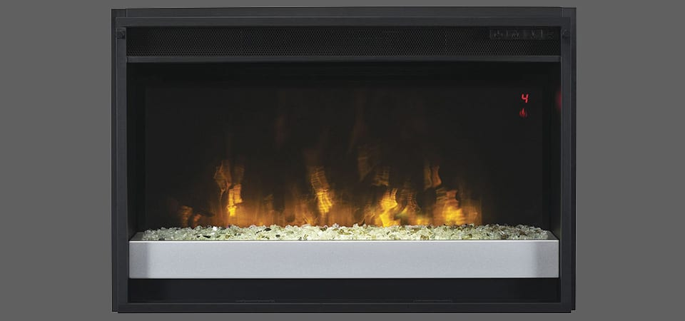 electric classic flame fireplace